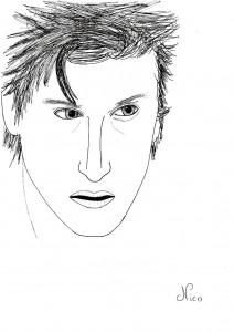 dessin visage homme