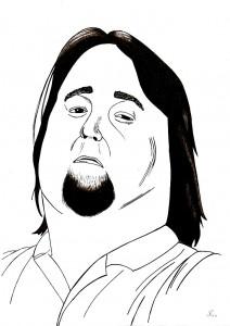 portrait d'un homme aux cheveux longs