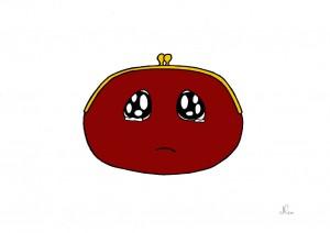 dessin de mon petit porte-monnaie au bord des larmes ...